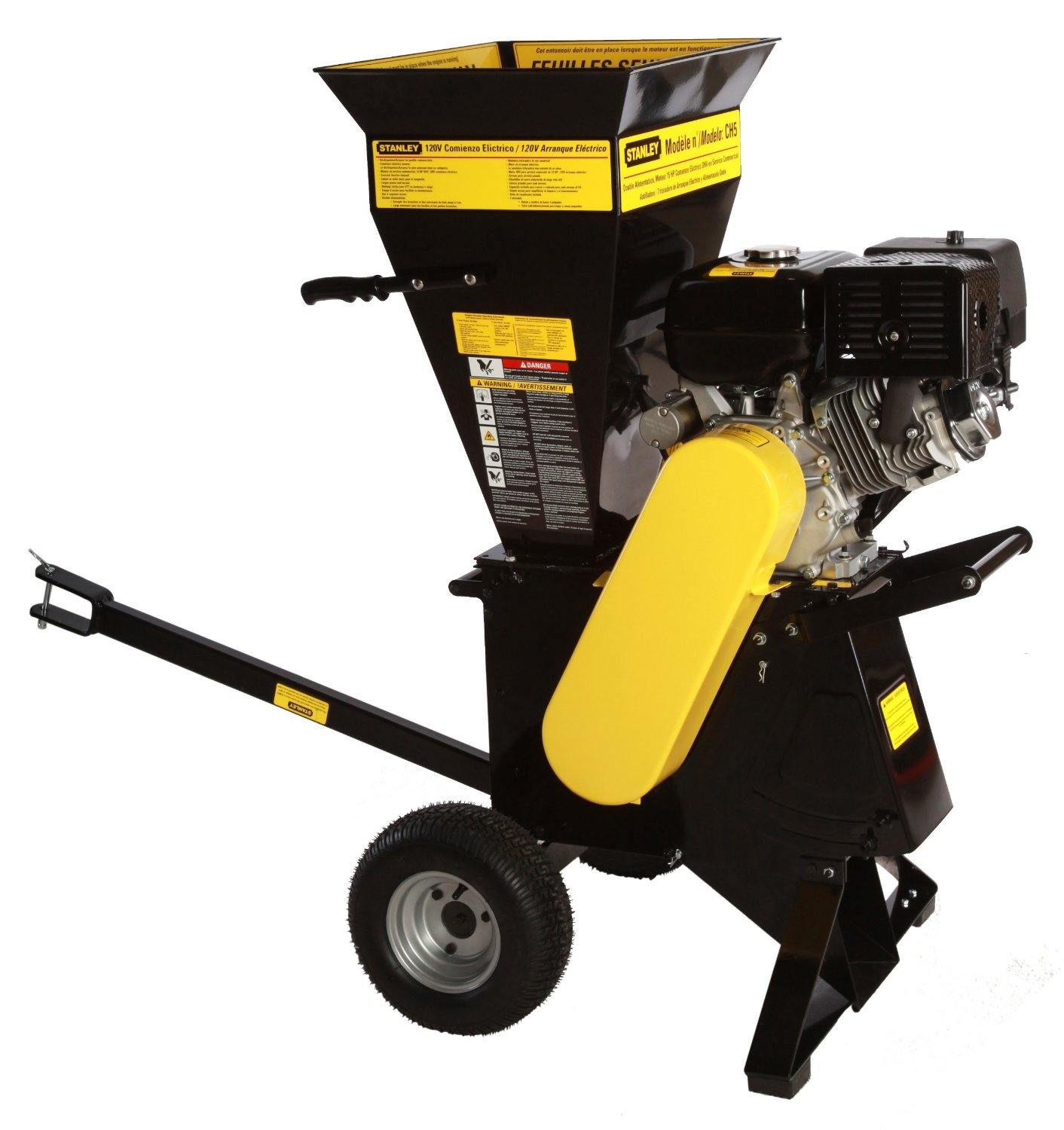 Stanley 15 HP 420cc Commercial Duty 120V Electric Start Chipper Shredder