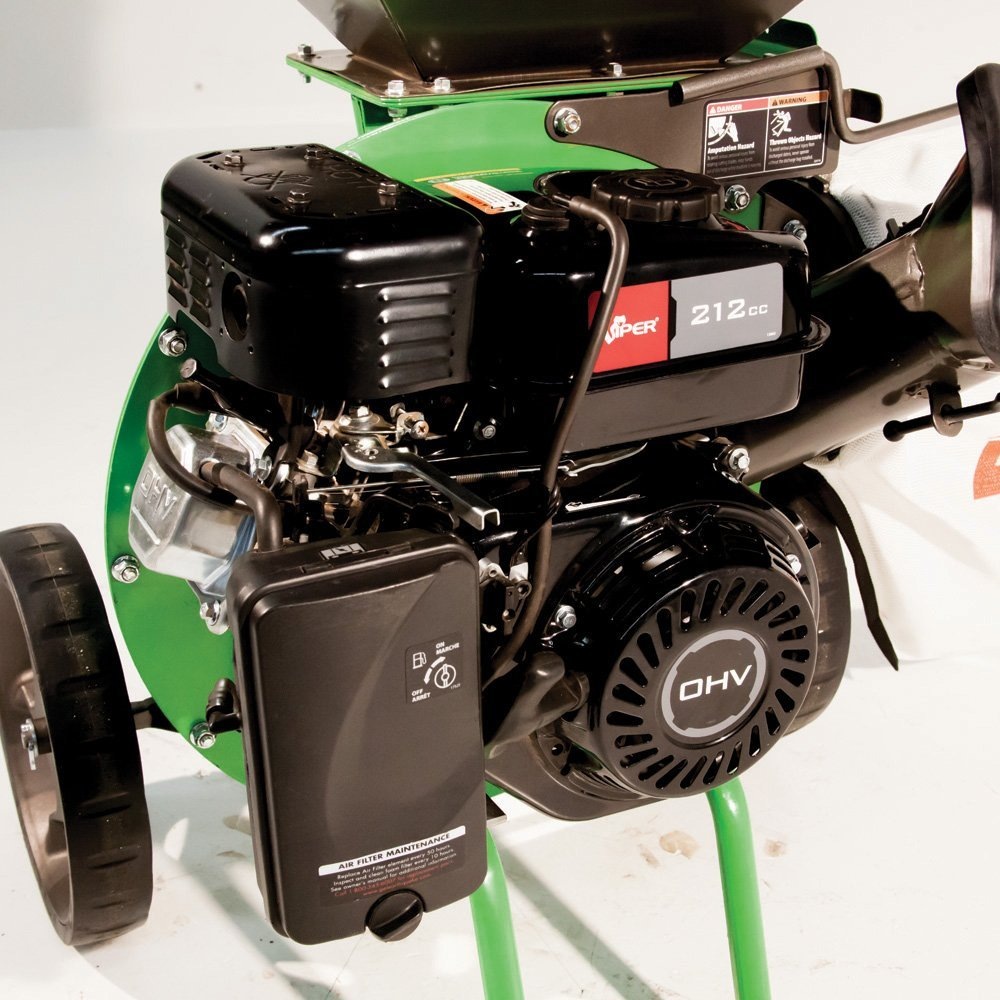 K32 Tazz Chipper Shredder With 212cc Viper Engine